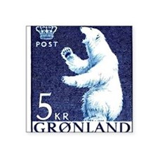 "Vintage 1963 Greenland Pola Square Sticker 3"" x 3"""