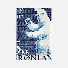 Vintage 1963 Greenland Polar Bear Rectangle Magnet