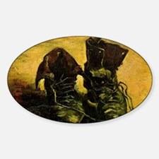 A Pair of Shoes by Vincent van Gogh Sticker (Oval)