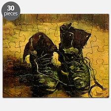 A Pair of Shoes by Vincent van Gogh Puzzle