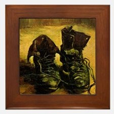 A Pair of Shoes by Vincent van Gogh Framed Tile