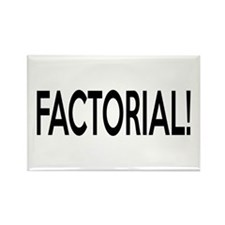 Factorial! Geeky Math Humor Rectangle Magnet