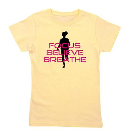 Pink Focus Believe Breathe Girl's Tee