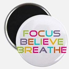 Multi Focus Believe Breathe Magnet