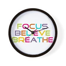 Multi Focus Believe Breathe Wall Clock