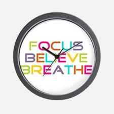 Multi Focus Believe Breathe Wall Clock