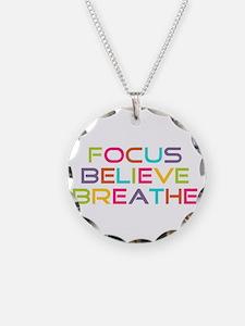 Multi Focus Believe Breathe Necklace