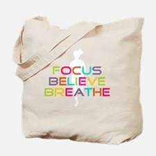 Multi Focus Believe Breathe Tote Bag