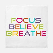 Multi Focus Believe Breathe Queen Duvet