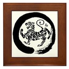 Shotokan Tiger Framed Tile