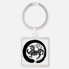 Shotokan Tiger Square Keychain