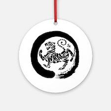 Shotokan Tiger Round Ornament