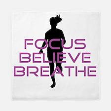 Purple Focus Believe Breathe Queen Duvet