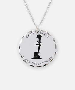 Our Fallen Necklace Circle Charm