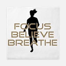 Tan Focus Believe Breathe Queen Duvet