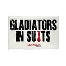 Gladiators in Suits Rectangle Magnet