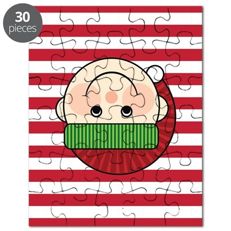 Christmas Elf Candy Cane Stripes Puzzle