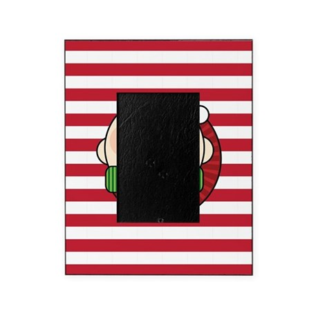 Christmas Elf Candy Cane Stripes Picture Frame