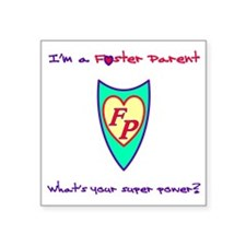 "What's your super power? Square Sticker 3"" x 3"""