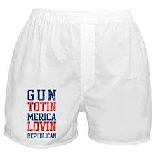 Gun totin Merica Lovin Boxer Shorts