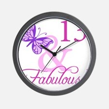 Fabulous 13th Birthday For Girls Wall Clock