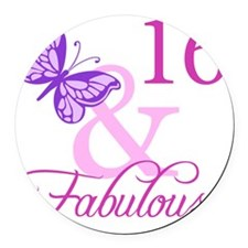 Fabulous 16th Birthday For Girls Round Car Magnet