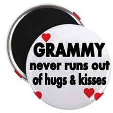 GRAMMY  NEVER RUNS  OUT OF HUGS  KISSES Magnet