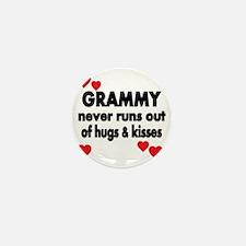 GRAMMY  NEVER RUNS  OUT OF HUGS  KISSE Mini Button