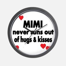 MIMI NEVER RUNS  OUT OF HUGS  KISSES Wall Clock