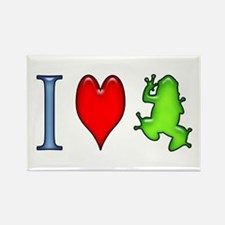 I Heart Frog Rectangle Magnet (100 pack)
