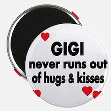 GIGI  NEVER RUNS  OUT OF HUGS  KISSES Magnet