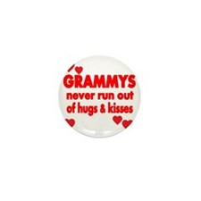GRAMMYS  NEVER RUN  OUT OF HUGS  KISSE Mini Button