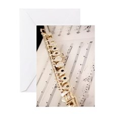 Flute and Music For Phone Case Greeting Card