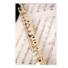 Flute and Music For Phone Postcards (Package of 8)
