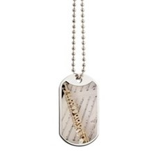 Flute and Music For Phone Case Dog Tags