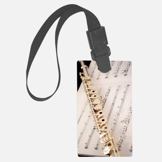 Flute and Music For Phone Case Luggage Tag