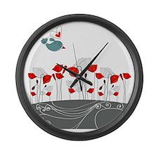 BeachTowel3 Large Wall Clock