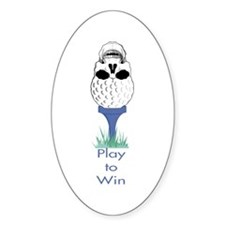 Golf Skull Oval Decal