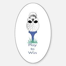 Golf Skull Oval Decal