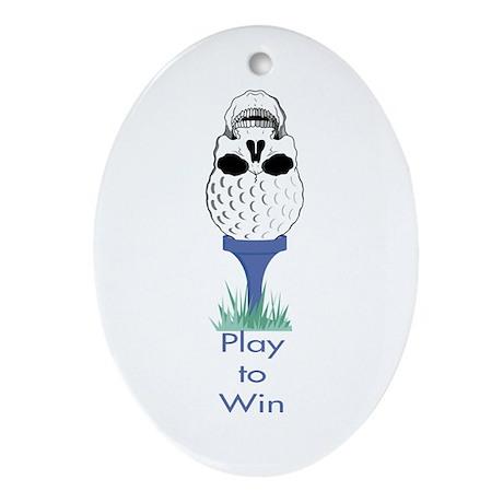 Golf Skull Oval Ornament