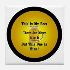 This Is My Beer Tile Coaster