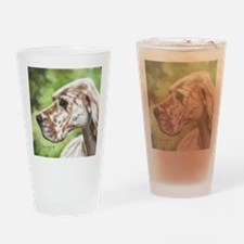 English Setter Profile Drinking Glass