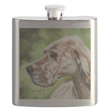 English Setter Profile Flask
