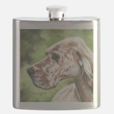 English Setter Profile Flask