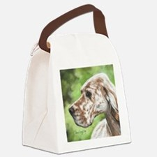 English Setter Profile Canvas Lunch Bag