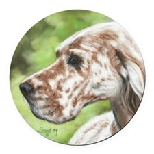 English Setter Profile Round Car Magnet
