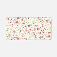 tiny floral dainty Aluminum License Plate