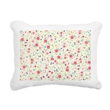 tiny floral dainty Rectangular Canvas Pillow