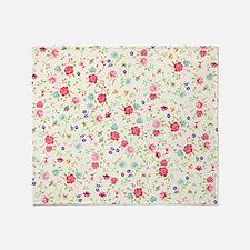 tiny floral dainty Throw Blanket