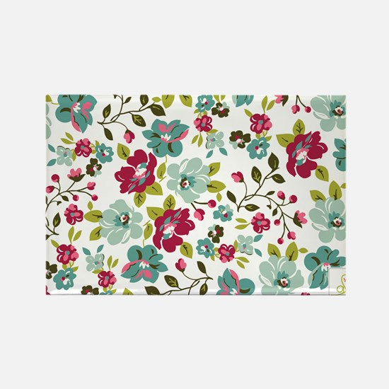 plum seed floral Rectangle Magnet